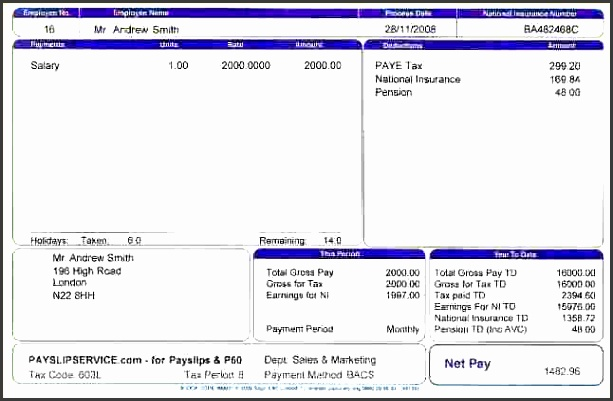 salary slip format in excel malaysiayslip template 7 resize 640 2c412
