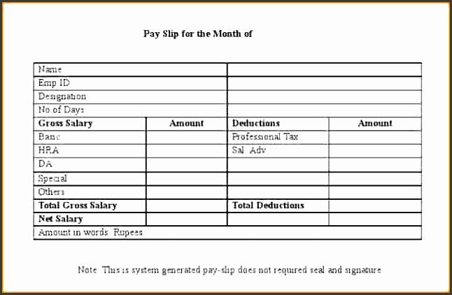 5 salary slip template - sampletemplatess