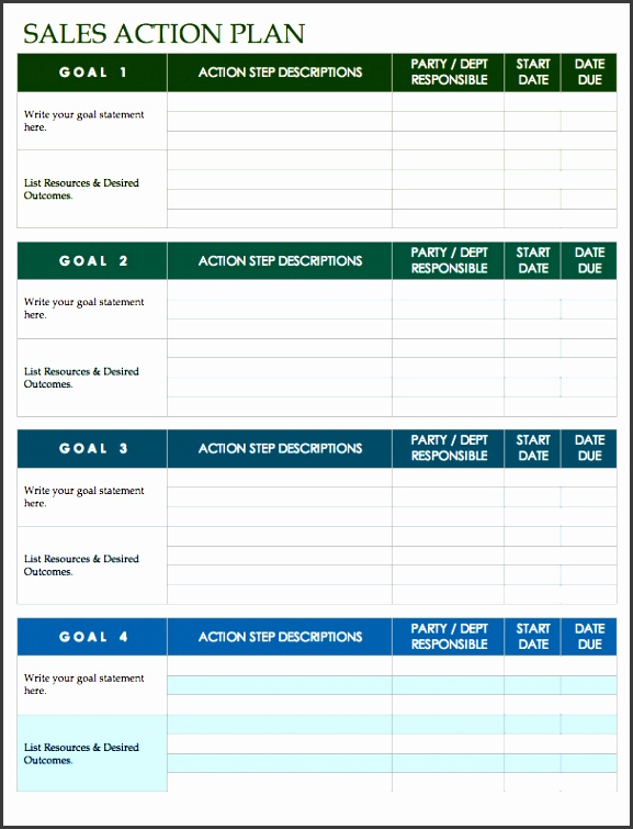 sales action template