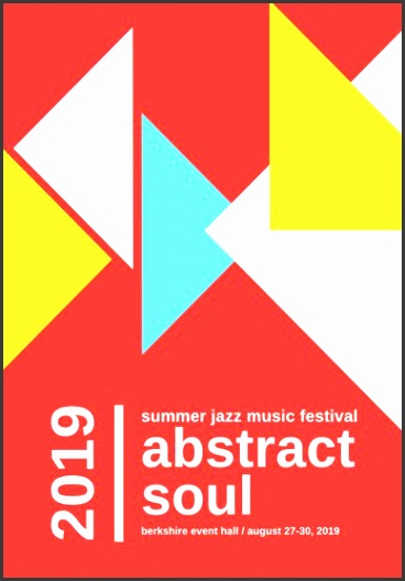 red blue white colorful abstract modern concert festival event program