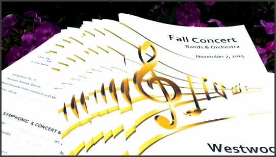 gold music notes program template is perfect for any event erts school events banquets etc