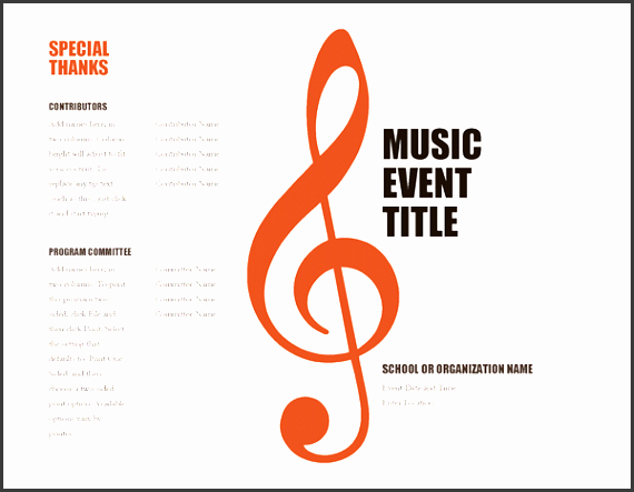 music festival planning template - 10 school music event program template sampletemplatess