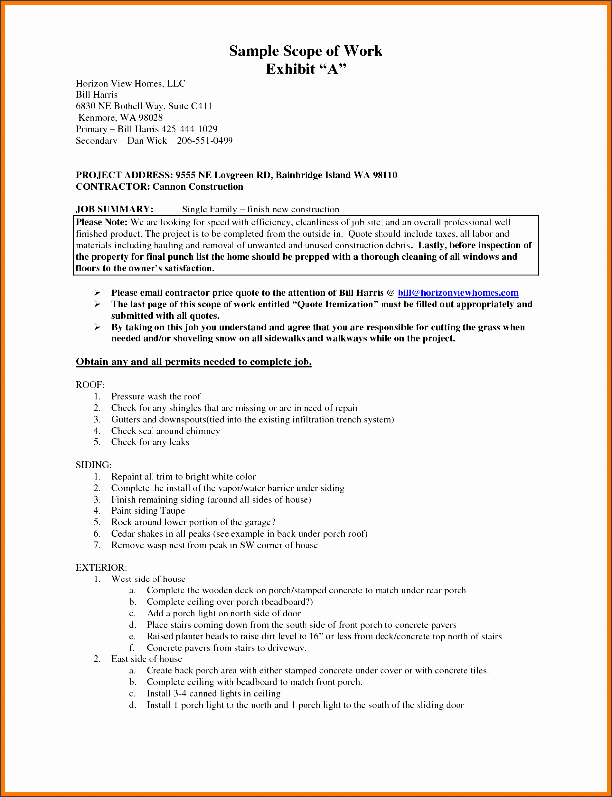 scope of work example scope of work template