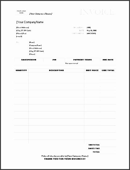 gray service invoice template