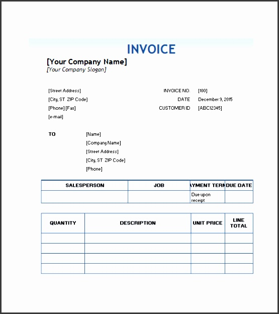 free able service invoice template
