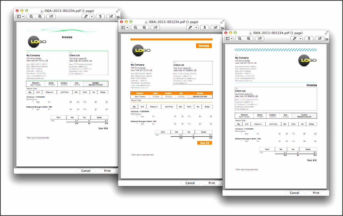macos mac os x invoicing software