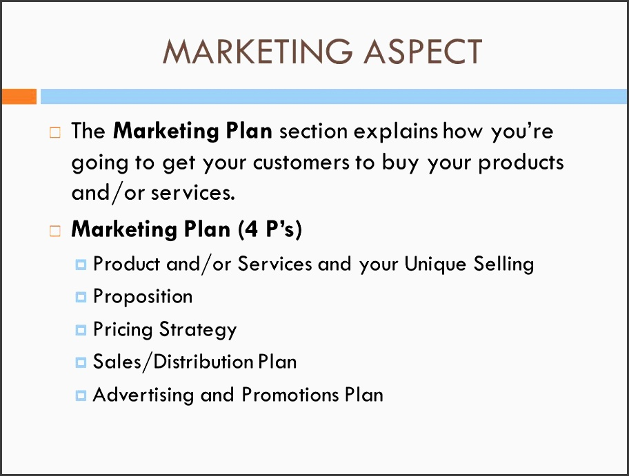 the marketing plan section explains how you re going to your customers to