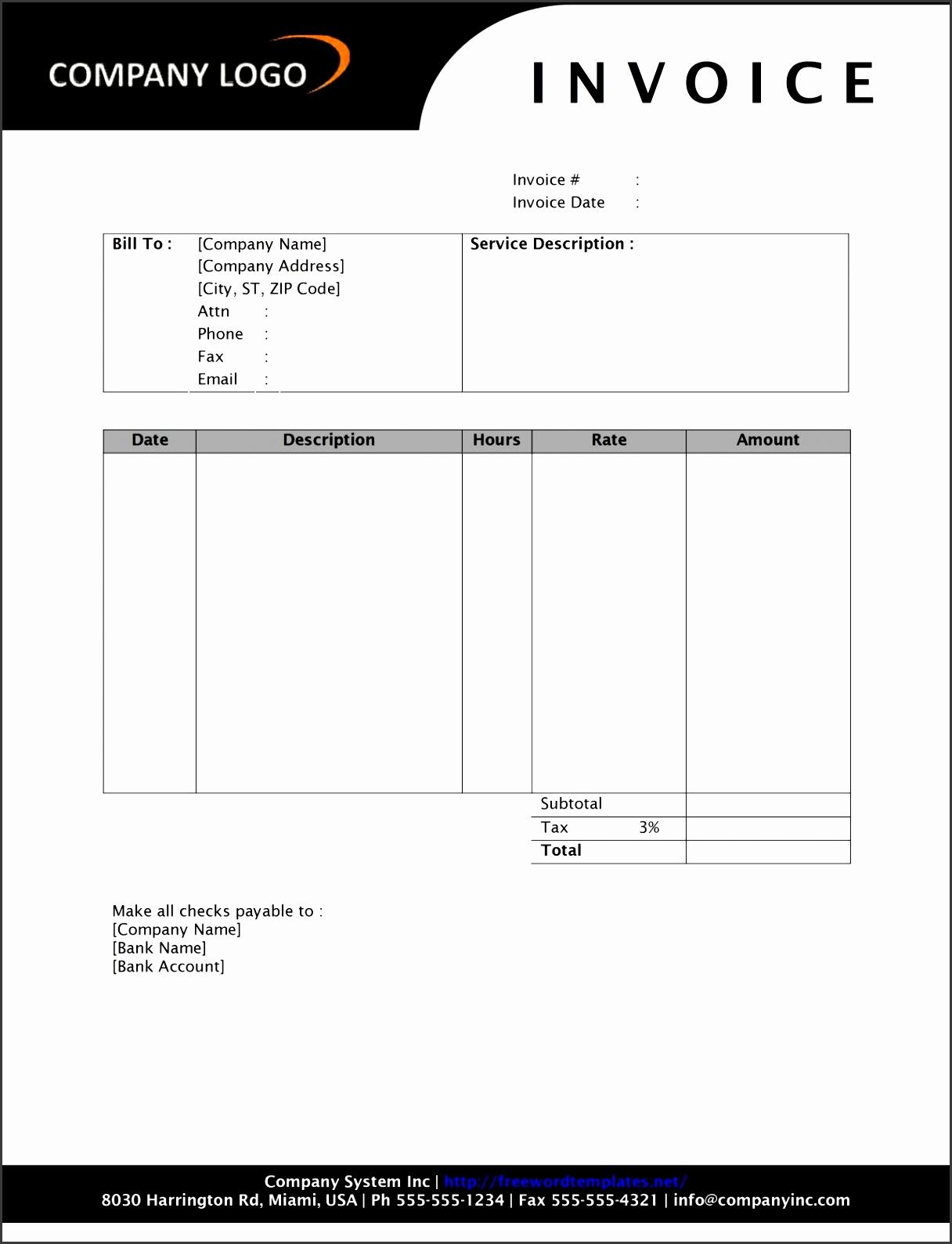 7 service sales receipt template