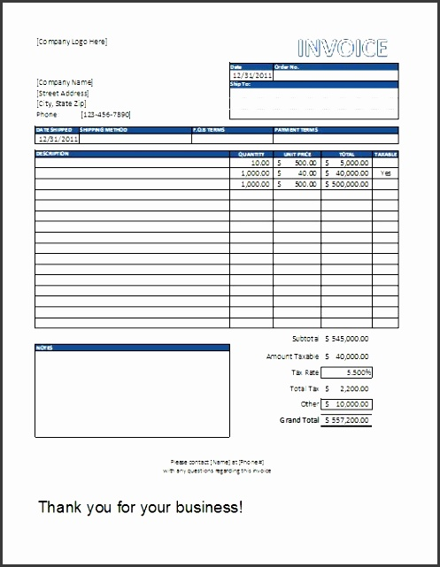 excel sales invoice template free pany invoice template excel