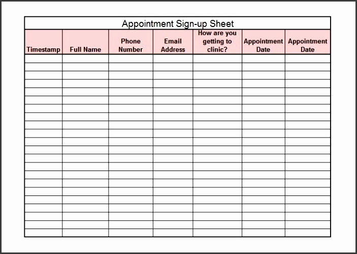 simple sign up sheet template samples vlashed
