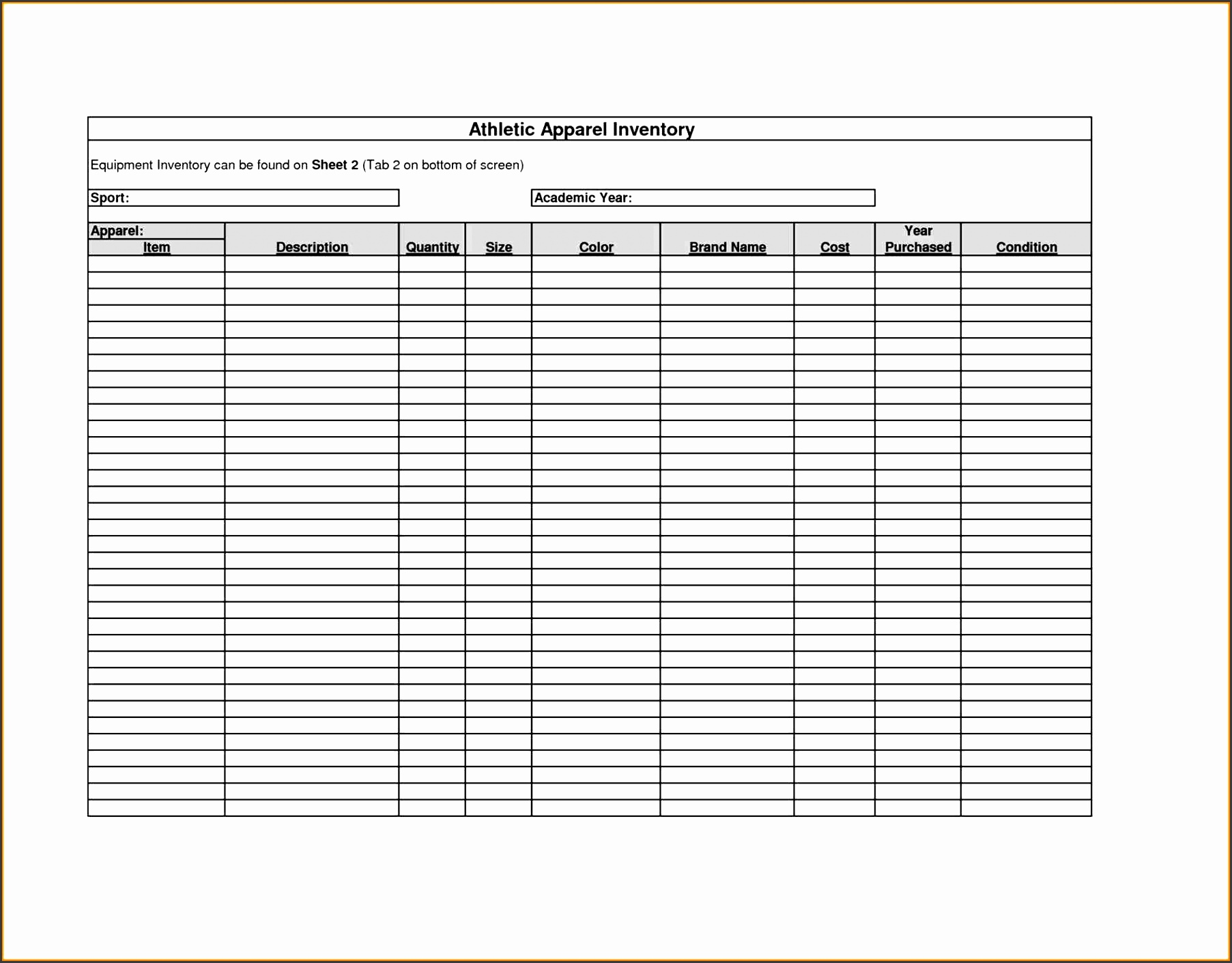 Gallery Of Template Free Haisume Restaurant Inventory Template Inventory  Spreadsheet Template Free Haisume Sign Out Sheet Sample Equipment ...