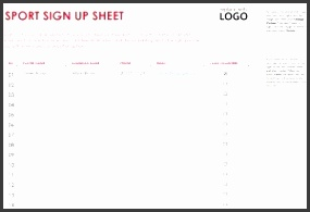 sports signup sheet template excel templates