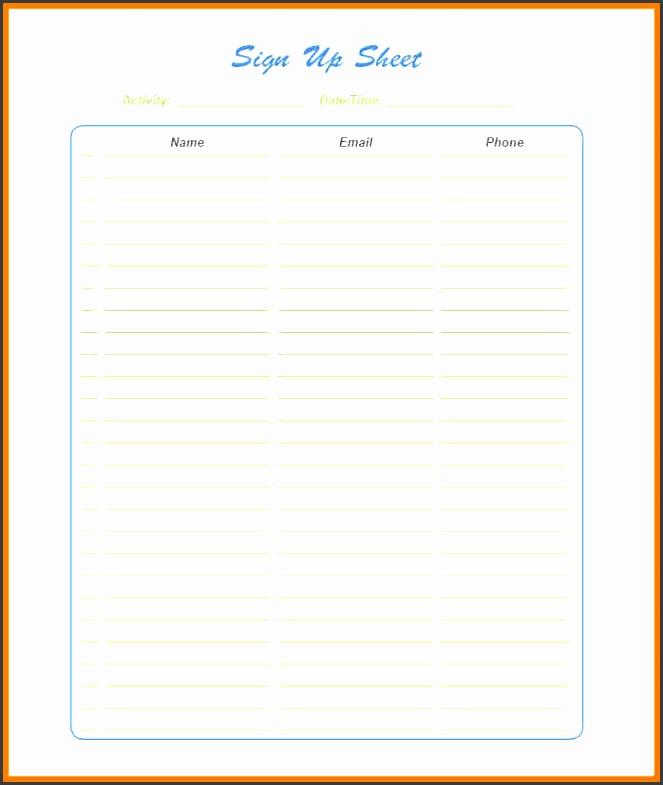 sign up sheet templategn up sheet template pdf