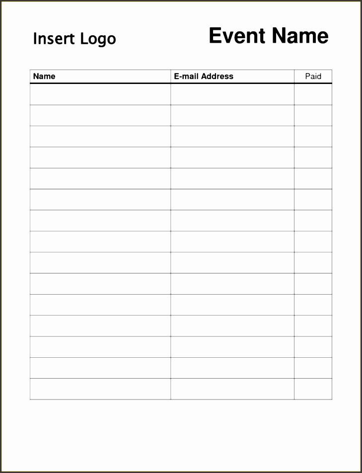 volunteer sign up sheet templates simple sign up sheet template