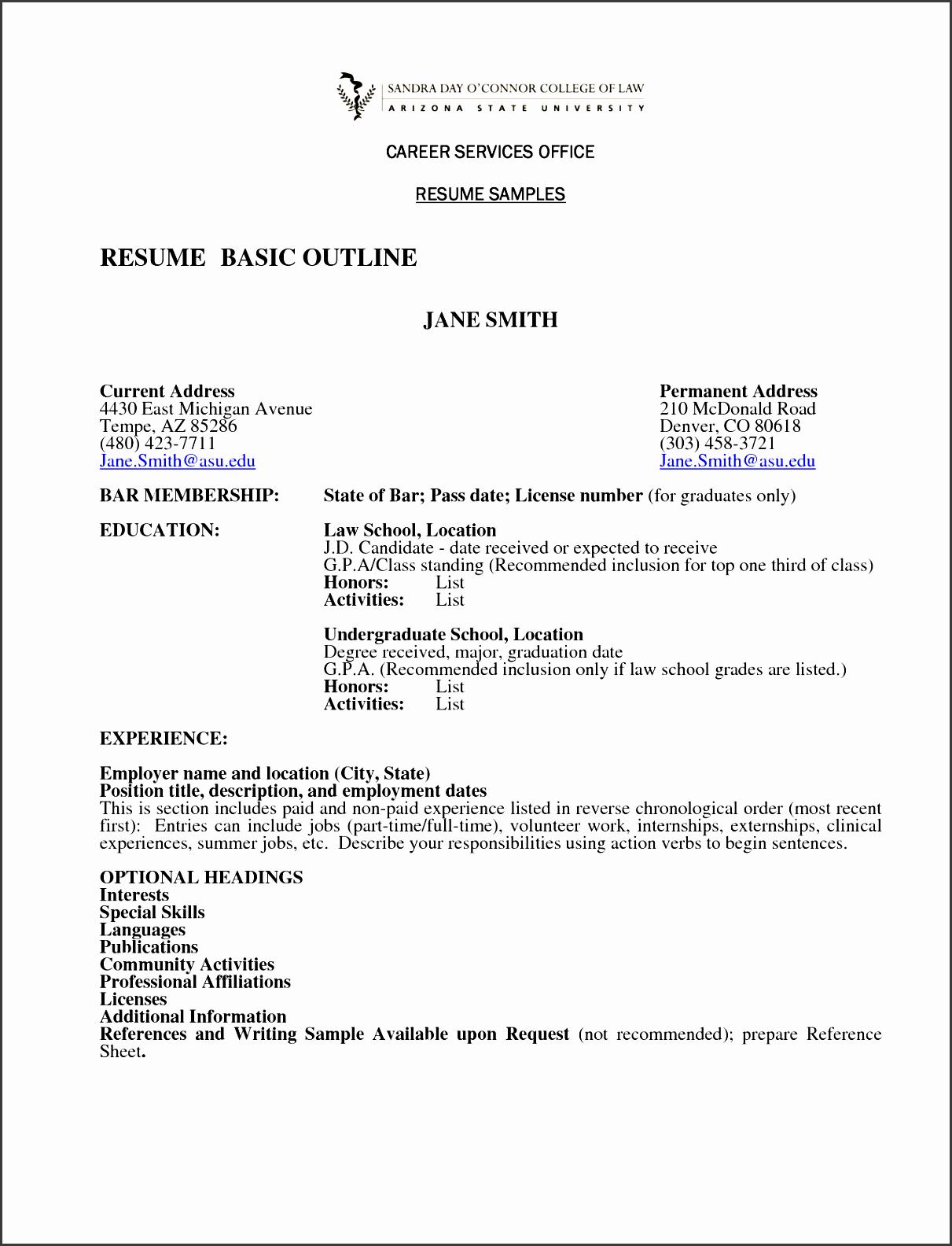resume example resume template outline resume outline template resume outline template for word resume