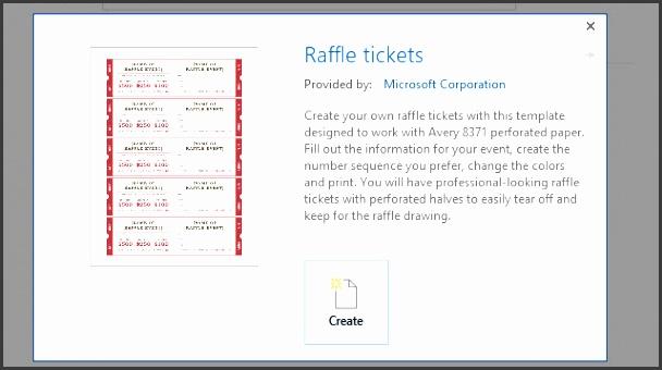 word raffle ticket template 2