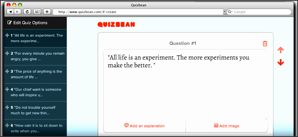 a quiz creator to quickly assess your students