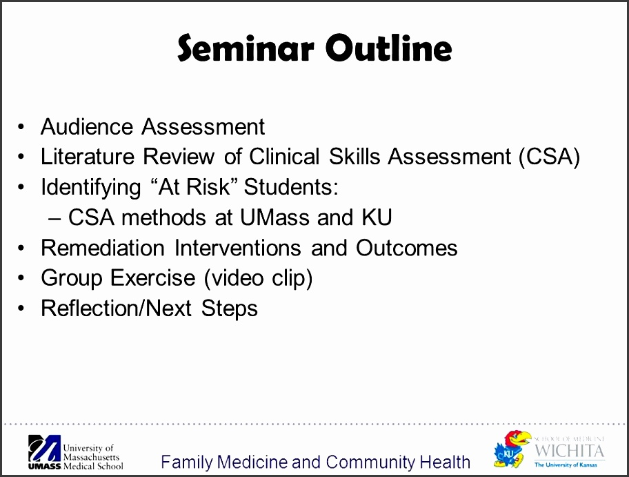 3 family medicine and munity health seminar outline au nce assessment
