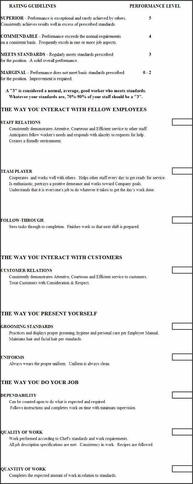 6 skills assessment template free of cost for Chef template resource