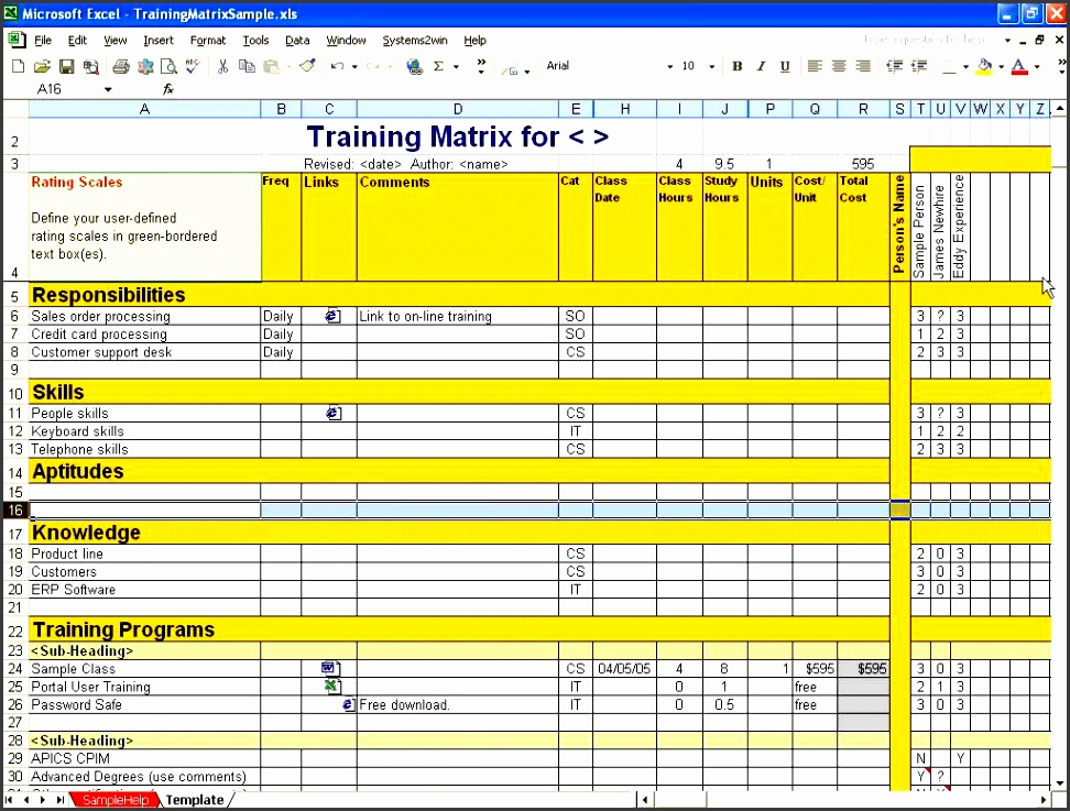 Skills Assessment Template Free Of Cost  Sampletemplatess