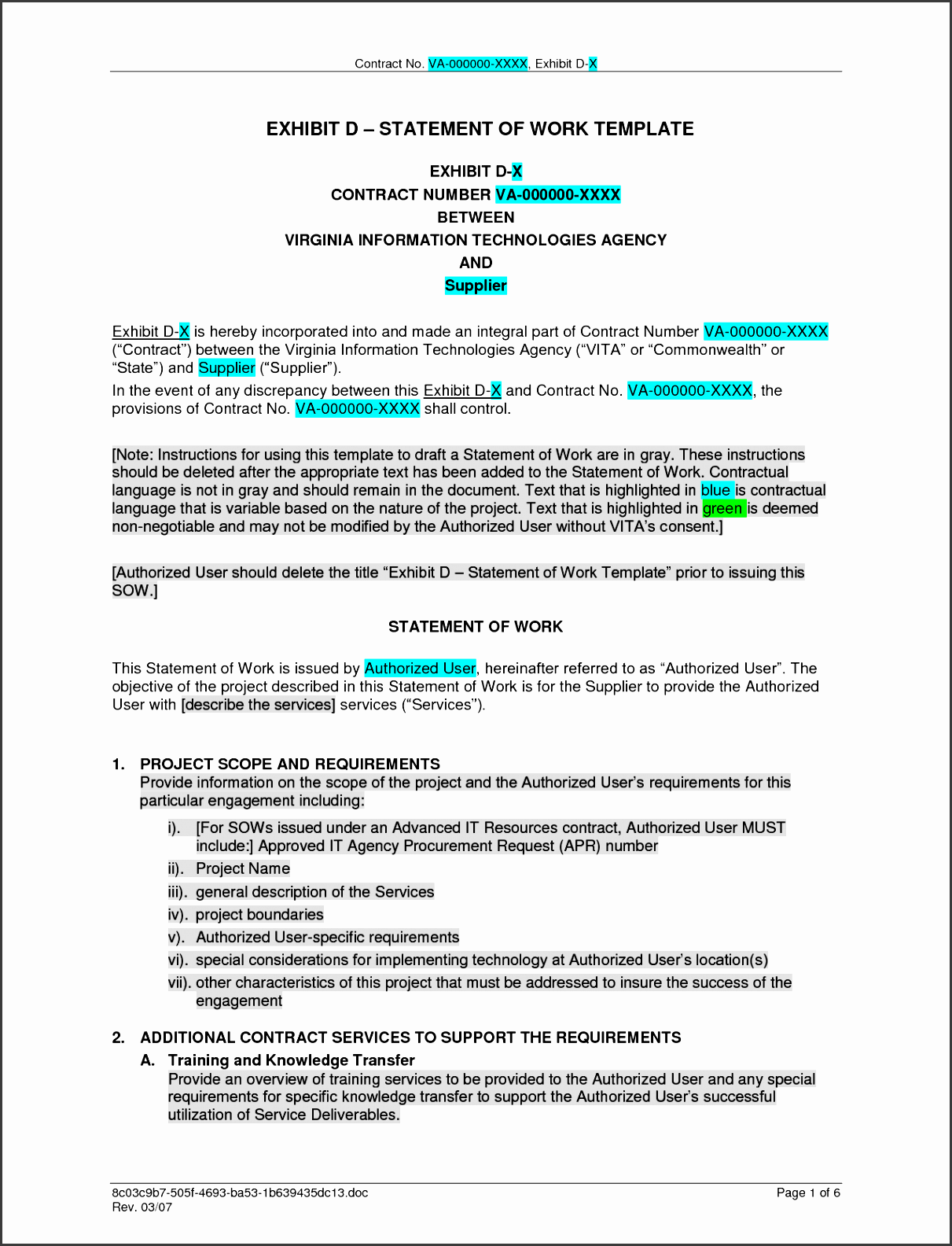 contract statement of work template ne6t3abc
