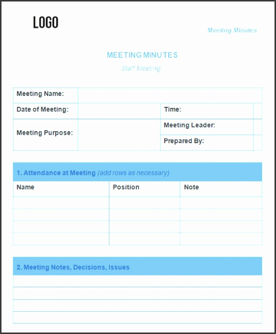 meeting minutes template 25 free samples examples format