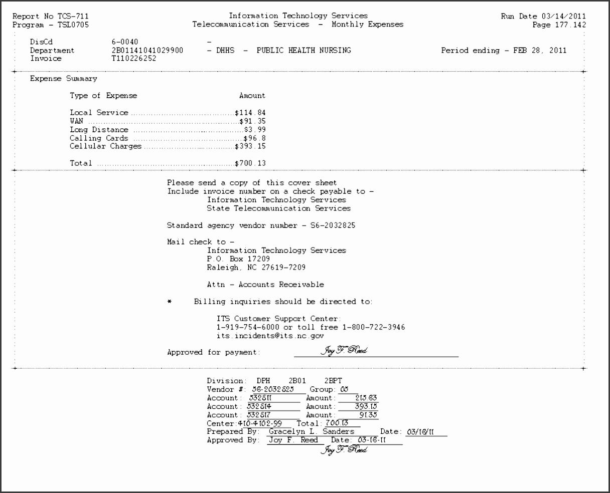 its e billing procedure example