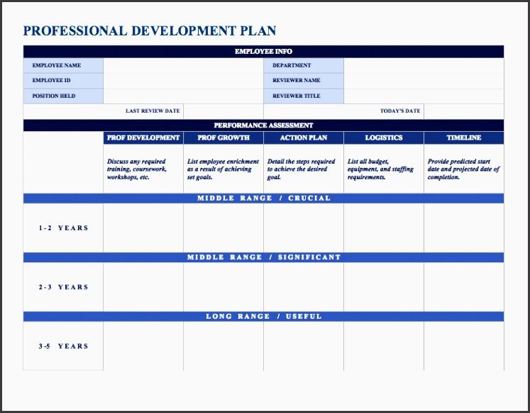 professionaldevelopmentplan word