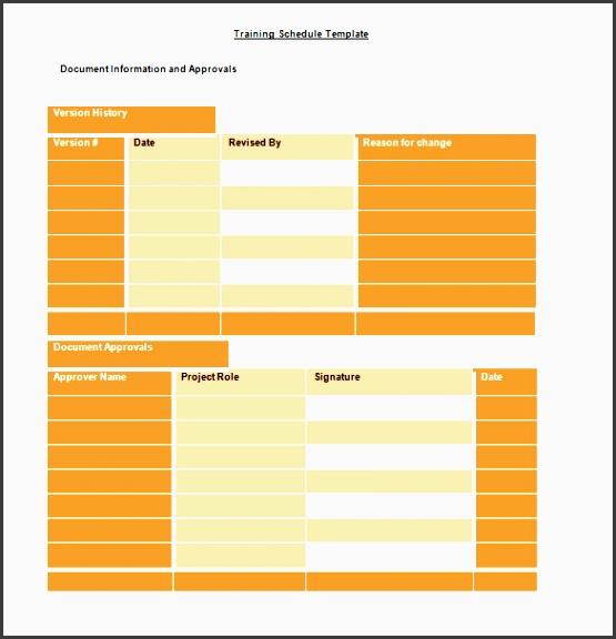 sample editable microsoft training schedule template word doc
