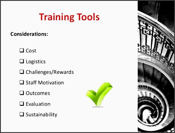 training tools considerations ï cost