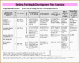 5+ Staff Training Plan Template