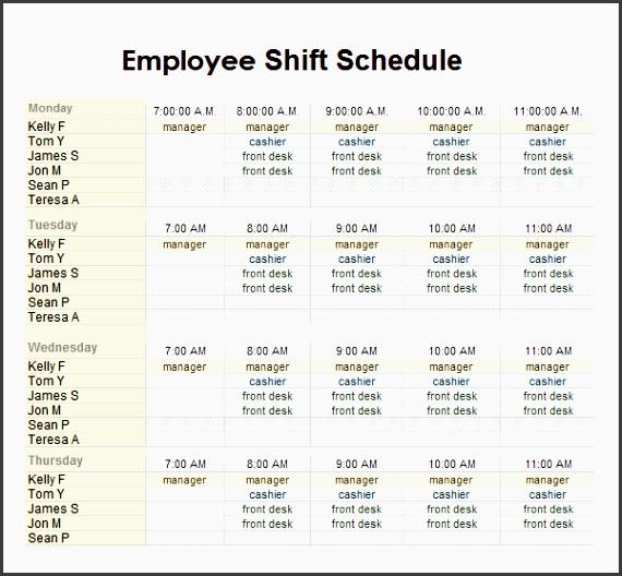 employee shift schedule1