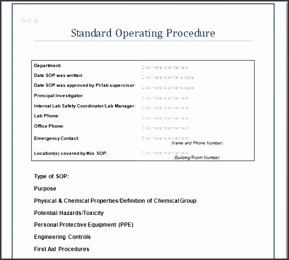 7 standard operating procedure example - sampletemplatess