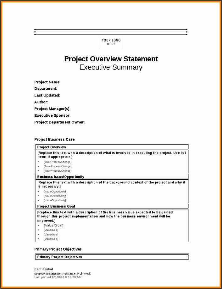 statement of work project managementoject statement project management statement of work 1