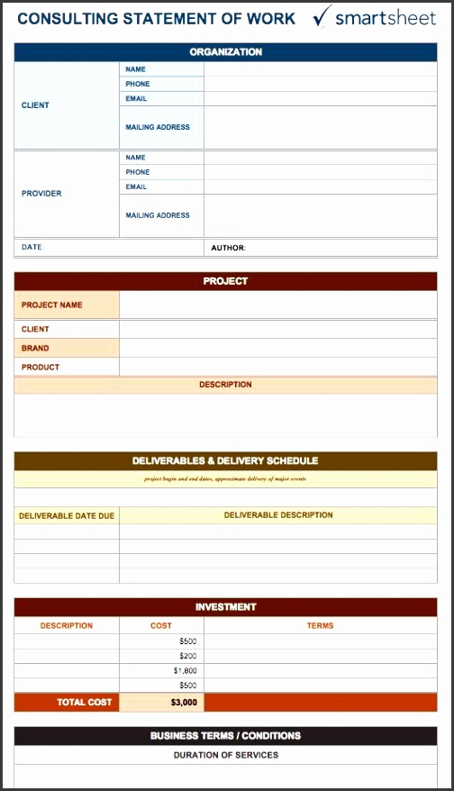consulting statement of work template