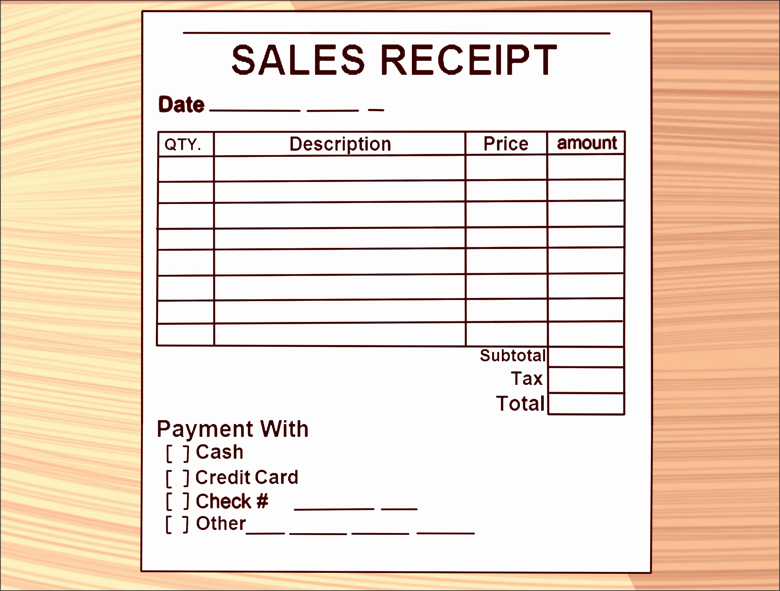 write a receipt step 9 version 2