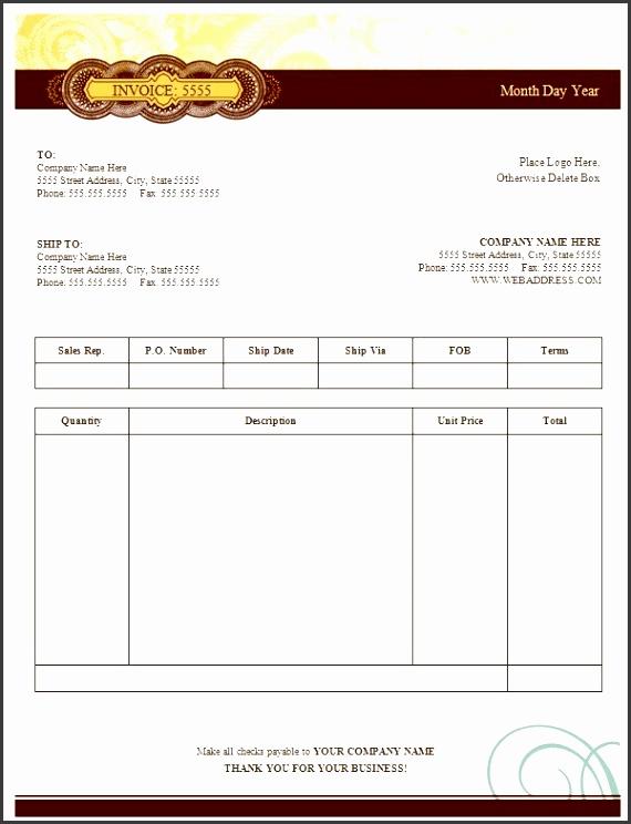sale invoice template