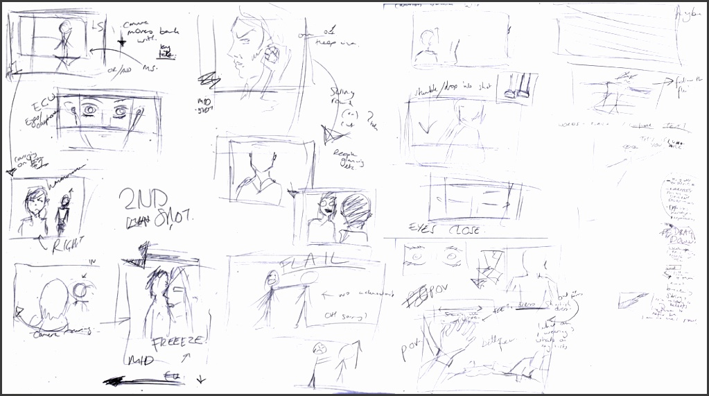 as a group we discussed how we wanted the film to play out and the main frames and shots we wanted could manage i drew this very roughly as this