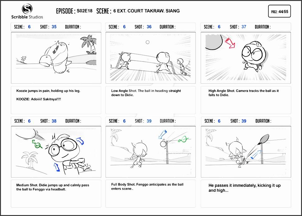 dunia eicak storyboard episode takraw sample page by zwannmustapah da5st4x