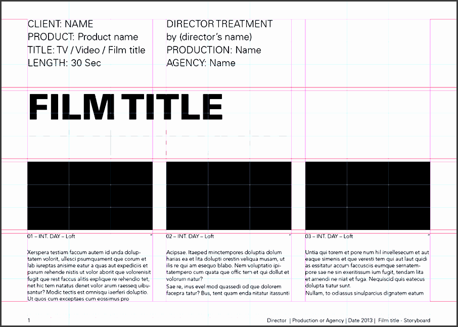 film storyboards storyboard template 185x1 univers light 10 advertising a4 landscape numbered