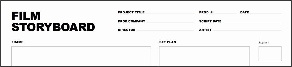 free storyboard template screenshot