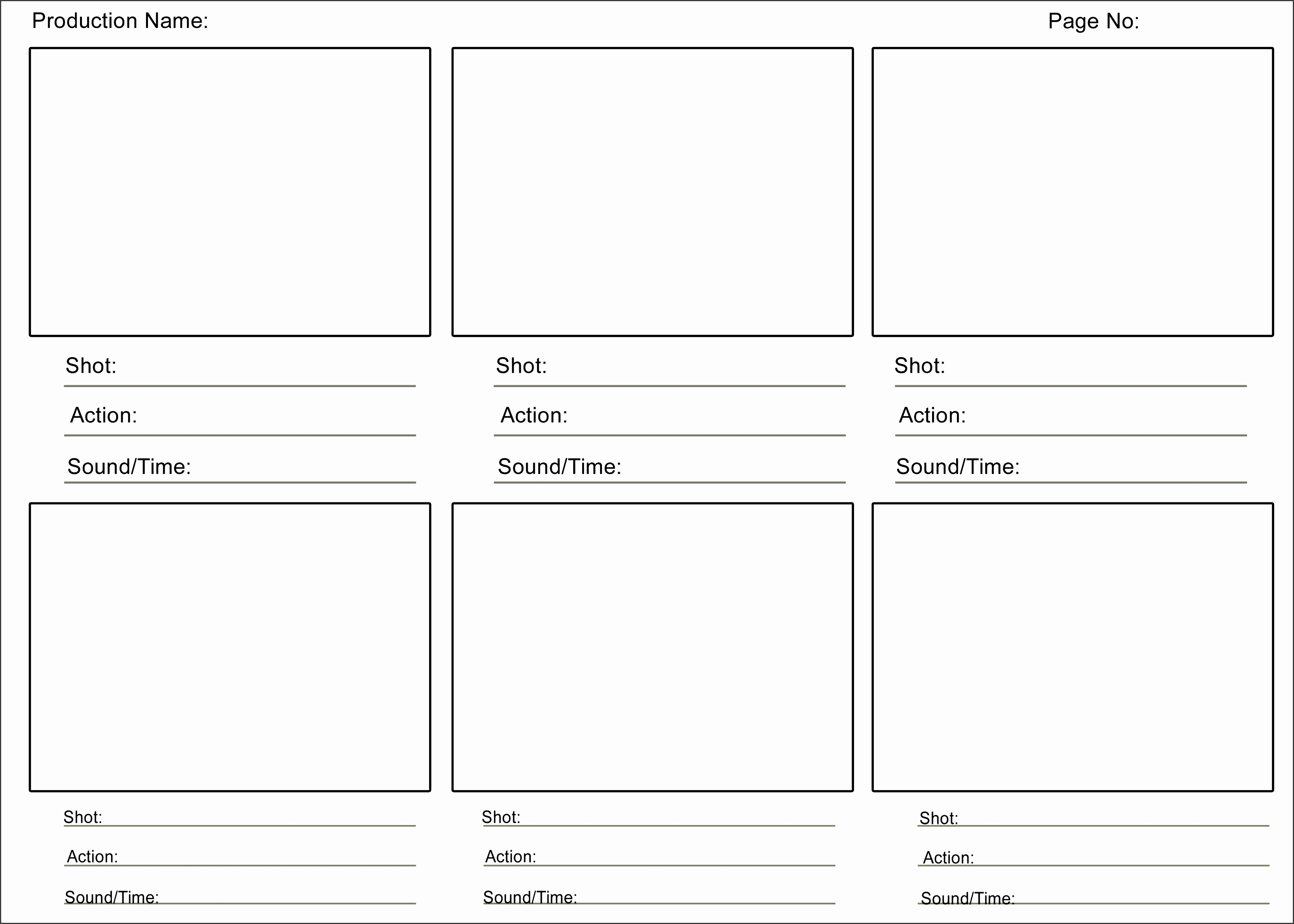 a storyboard template here