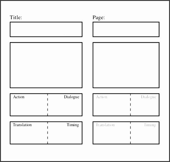 blank script storyboard template word sample