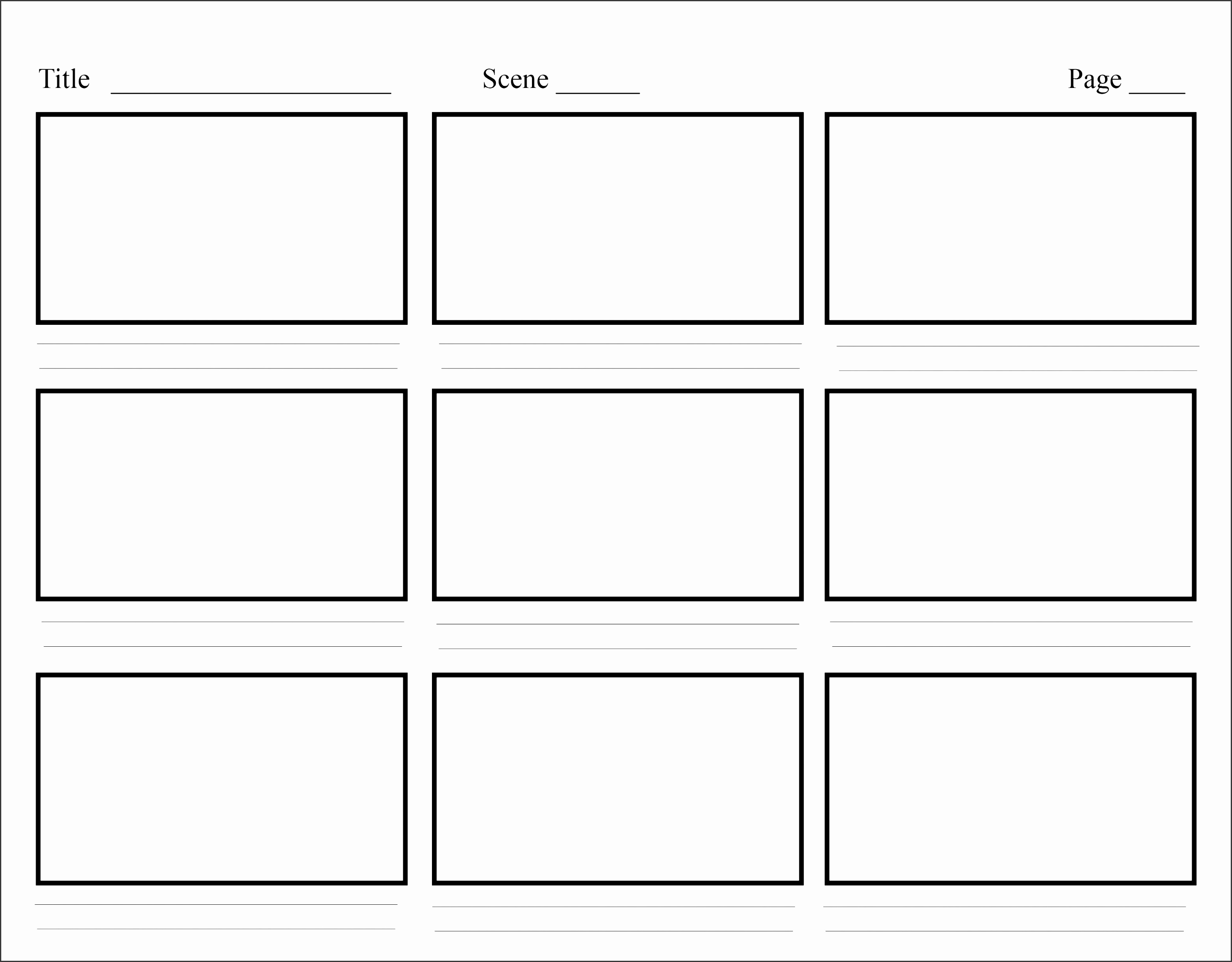 6 Storyboard Template In Word Sampletemplatess