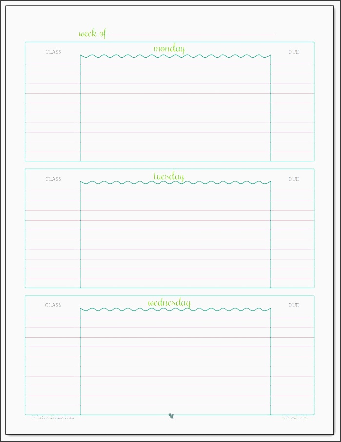 ting ready for back to school student planner printables