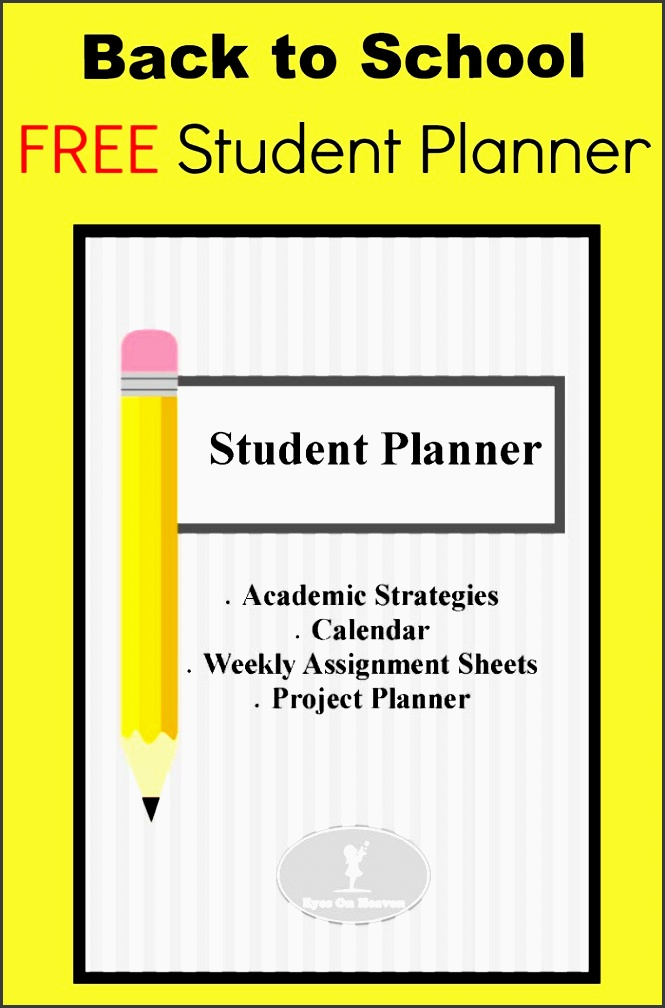 free student planner organized assignment sheet project project sheet template