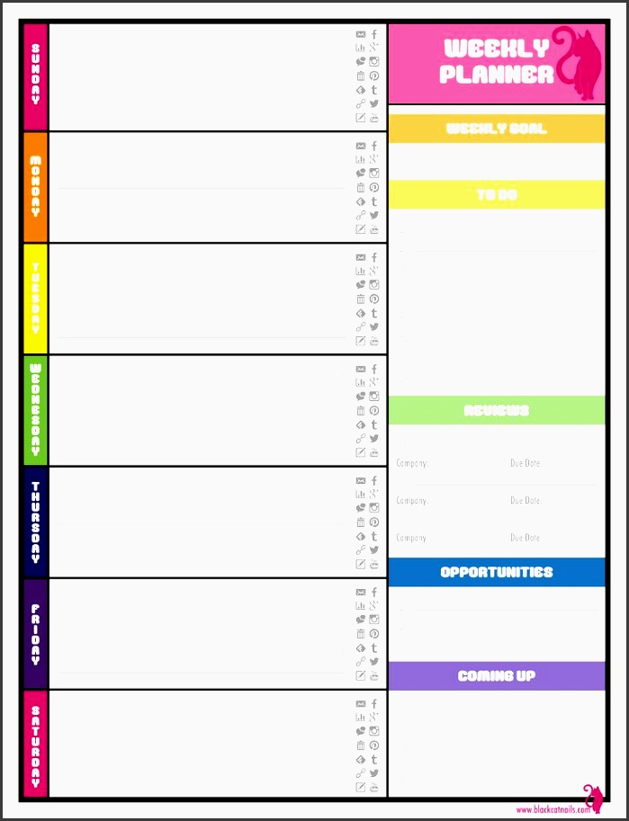 4  student monthly planner template