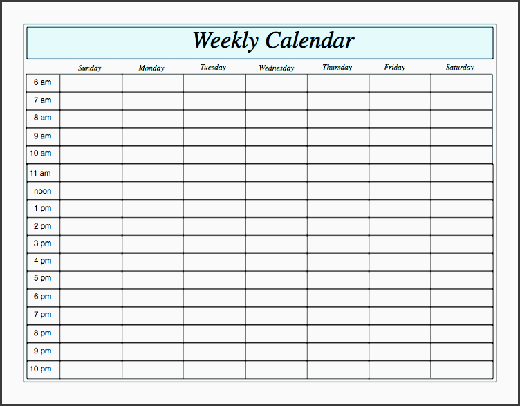 week calendar template free harness and wire scheme
