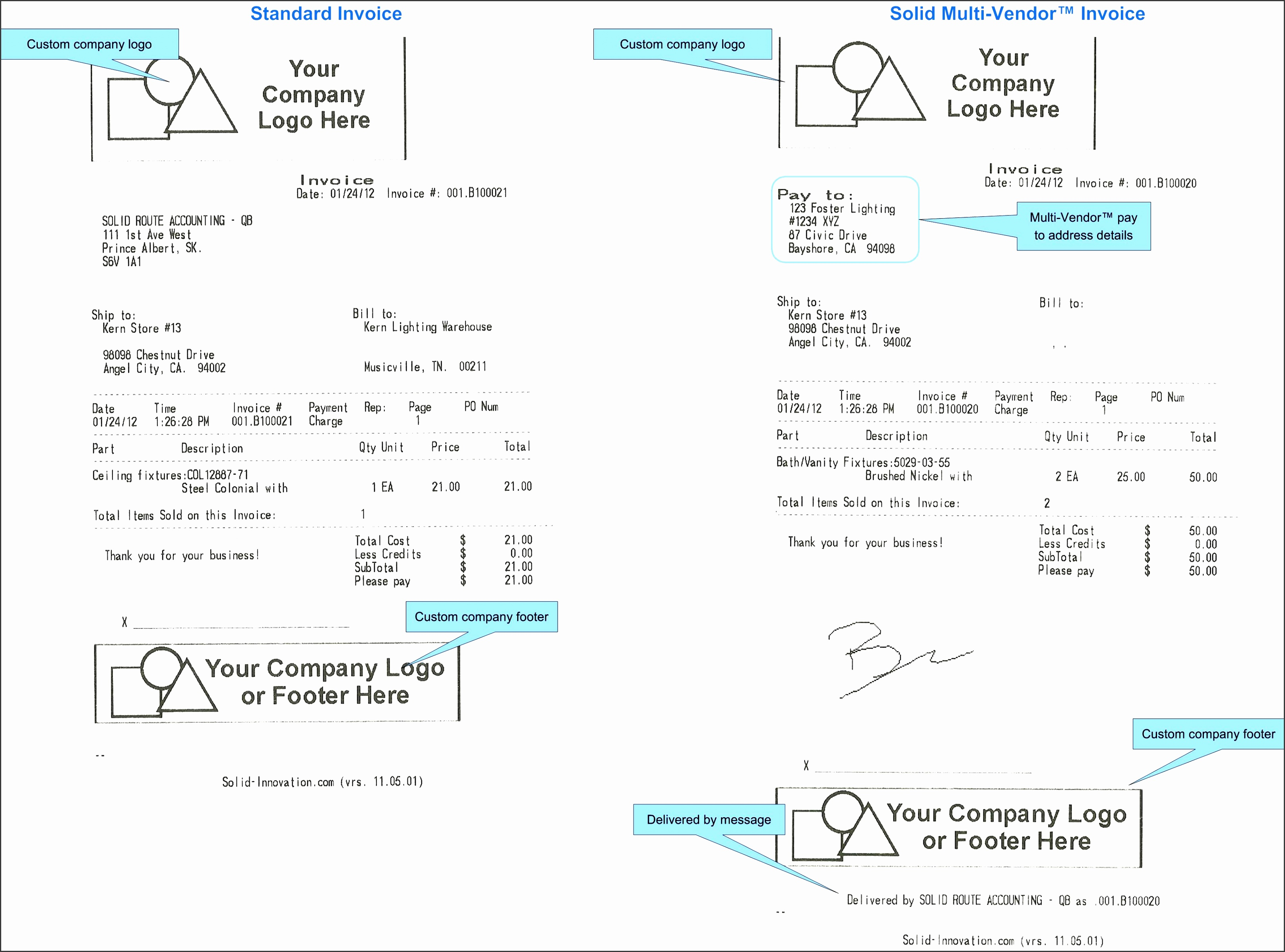vendor invoice template multi vendor invoice sample1 wkomra