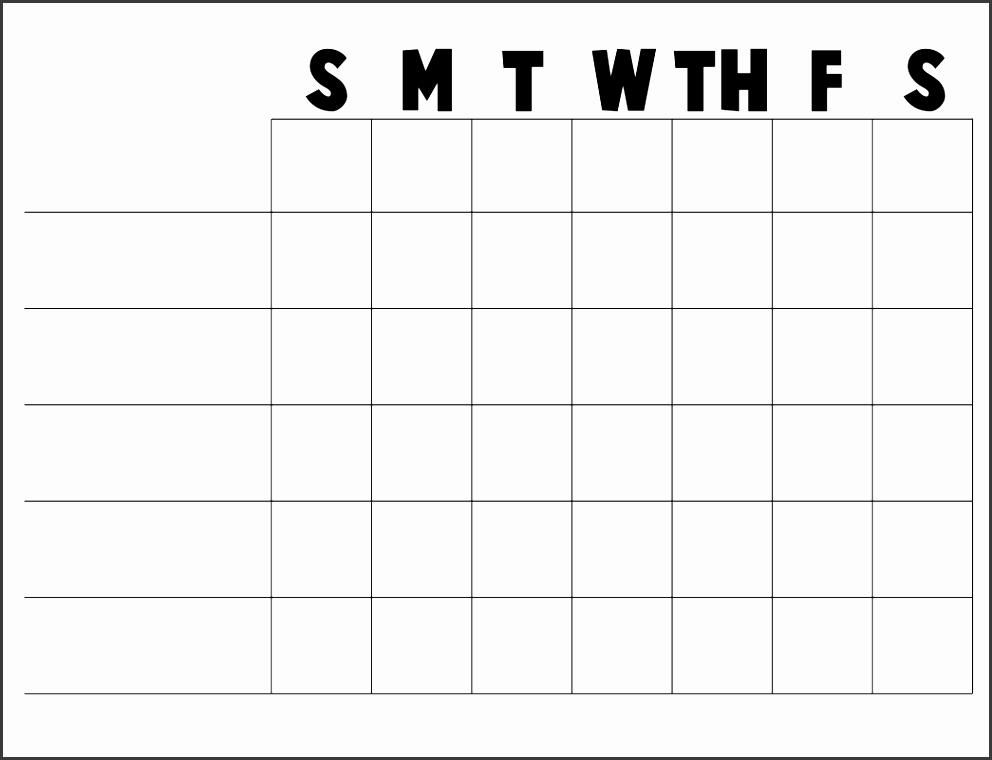 printable blank chart templates 02 more